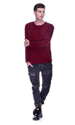 Лонгслив, рукав реглан, цвет бордо, фото 2