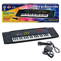 Детское Пианино синтезатор SK 3738 (10шт) 37 клавиш, микрофон, запись, на бат-ке, в кор-ке, 75-21,5-6,5см