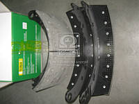 Колодка тормозной в сборе КАМАЗ ЕВРО (2- штуки ) (Производство Трибо) 6520-3501090, AHHZX