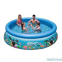 Надувной бассейн Intex 28136. Семейный Easy Set 366 х 76 см