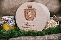 """Сувенирный подарок """"Набор 3шт*220мл"""" в деревянной коробочке"""