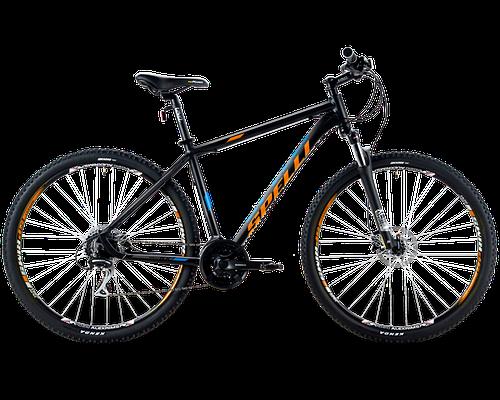 """Горный велосипед SPELLI SX - 5500  26""""  21"""" Черный/Оранжевый"""