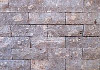 """Натуральный камень Травертин Турция """"Антик серый"""" 10*30,5 см."""