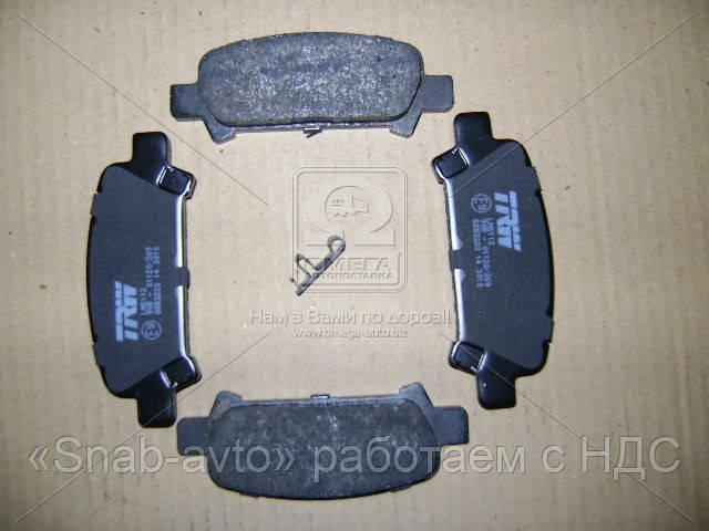 Колодка тормозная SUBARU FORESTER, IMPREZA, задн. (производство TRW) (арт. GDB3223), AEHZX