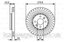 Тормозной диск передний 280mm.на Renault Kangoo 01>08 BOSCH 0986479A85