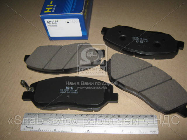 Колодка тормозная HYUNDAI SANTA FE 2.7 V6 CRDI 05- передн. (производство SANGSIN) (арт. SP1194), ADHZX
