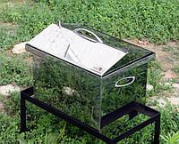 Коптильня нержавеющая  крышка домиком  (400х300х310)