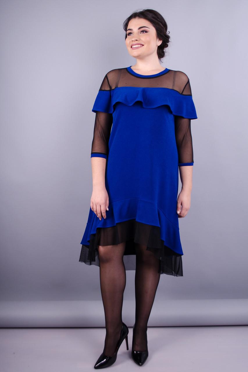 f5058f12883715e Лика. Стильное женское платье больших размеров. Электрик.: продажа ...