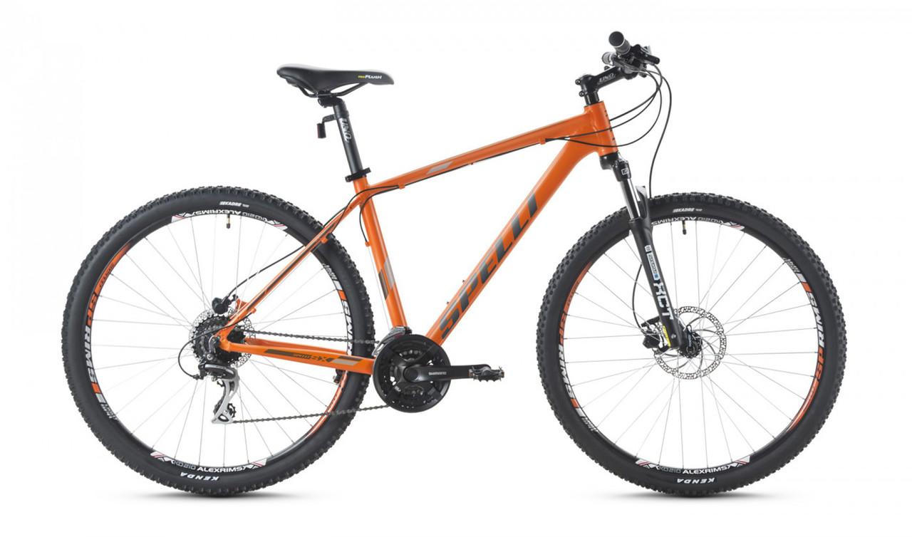 """Горный велосипед SPELLI SX - 5000 26"""" 19""""  Оранжевый/Серый"""