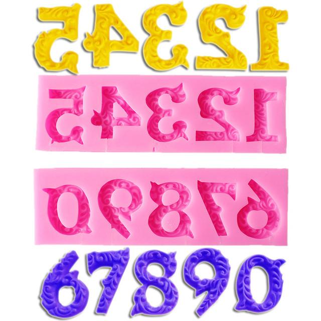 Силиконовые молды буквы и цифры