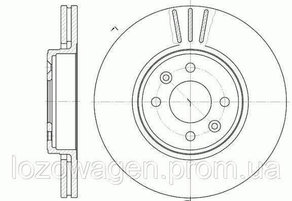 Тормозной диск передний 280mm.на Renault Kangoo 01>08 REMSA 6583.10