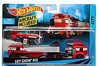 Игровой набор MATTEL HOT WHEELS Sky show Rig Красная кабина Машина дальнобойщика BDW51