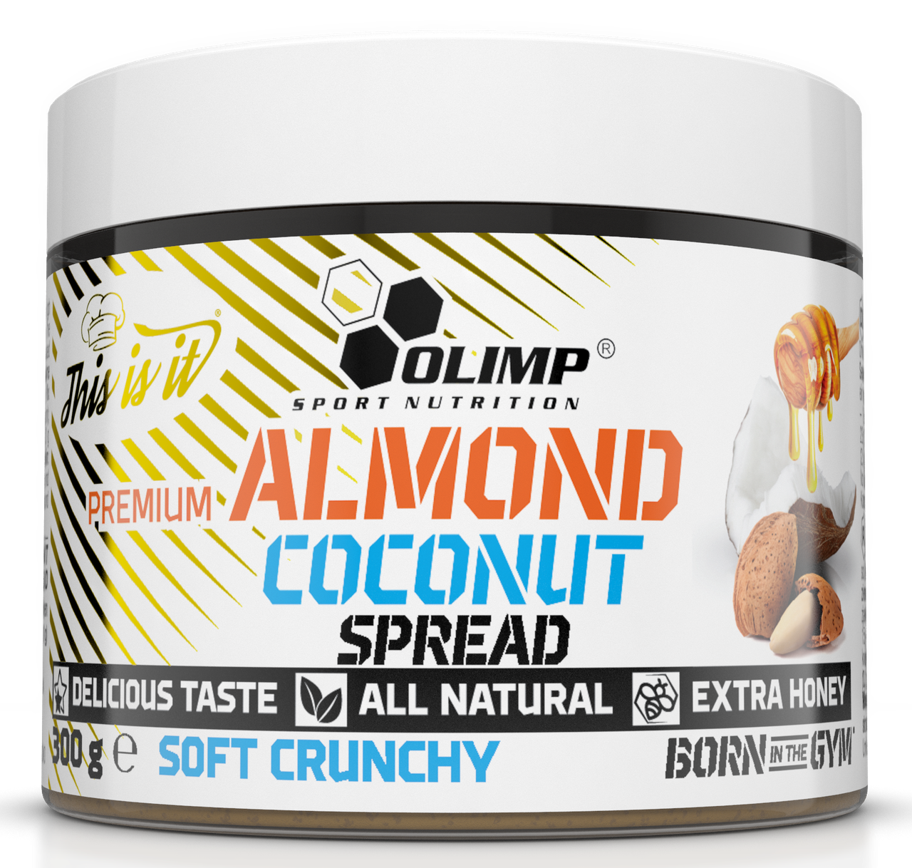 Olimp Premium Almond Coconut Spread soft crunchy 300g