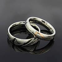 Парные обручальные кольца из нерж.стали 316L(влюбленные сердца)