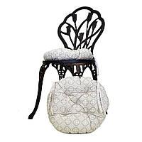 Подушка на стул круглая ажур
