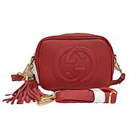 Брендовая маленькая сумка красная