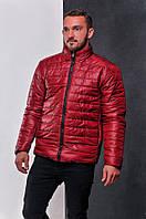 Мужская теплая двухсторонняя куртка из плащёвки