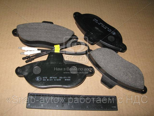 Колодка тормозная CITROEN/FIAT/PEUGEOT JUMPY/SCUDO/EXPERT передн. (производство ABS) (арт. 36911), ADHZX