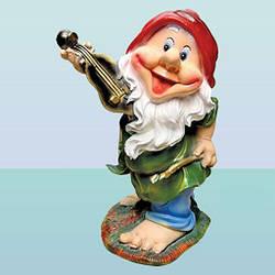 Садовая фигура, скульптура для сада Гном скрипач (Ср)