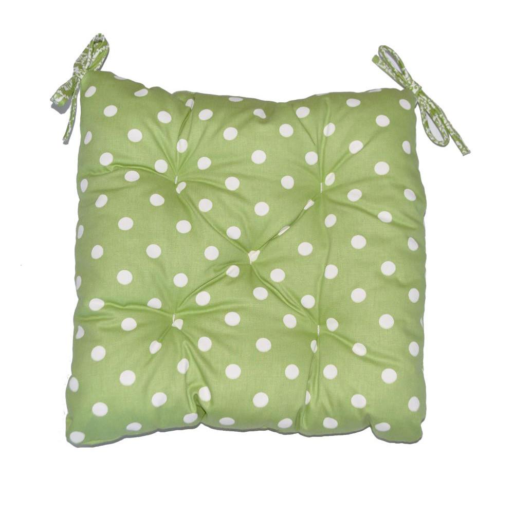 Подушка на стул Горох-Олива квадратная