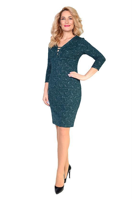 Очаровательное платье Дефиле из трикотажа с люрексом, 46,48,50,52,54