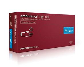 Резиновые перчатки неопудренные Ambulance high risk, фото 2