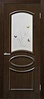 Двери ламинированные пленкой ПВХ  Лика СС+КР каштан, фото 1
