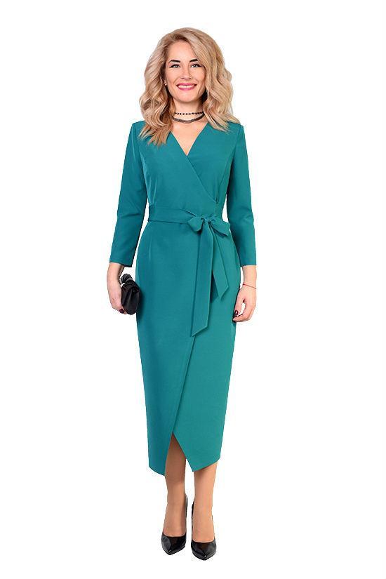 Платье Ольга  из ткани плательный стрейч-креп, 48,50,52,54