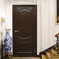 Двери ламинированные пленкой ПВХ  Прима ПГ венге