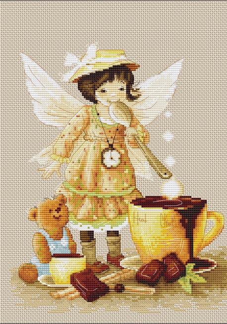 B1131 Гарячий шоколад. Набір для вишивки хрестиком Luca-S