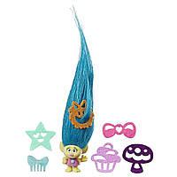 Коллекционная крошечная фигурка Тролли -  Смидж DreamWorks Trolls Hair Raising Tiny Smidge