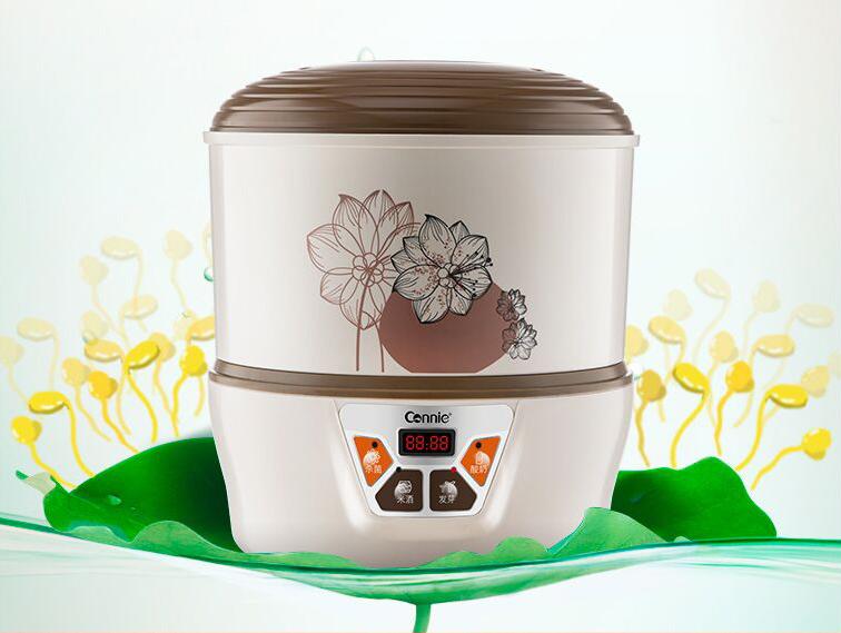 Проращиватель семян спроутер Connie автоматический + йогуртница + озонатор (2 уровня)