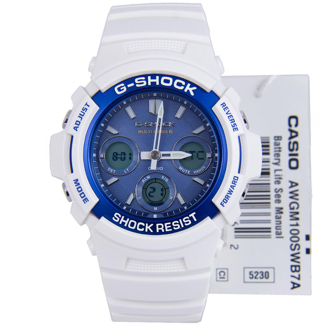 Часы Casio G-Shock AWG-M100SWB-7A Б.