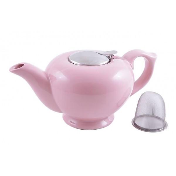 Чайник заварочный с ситечком Fissman 1.2 л (Керамика с металлической крышкой)