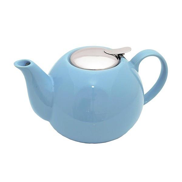 Чайник заварочный с ситечком Fissman 1.25 л (Керамика с металлической крышкой)
