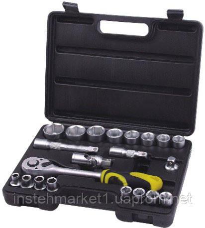 Набор торцевых головок СТАЛЬ 22 ед (арт.70021) в чемодане