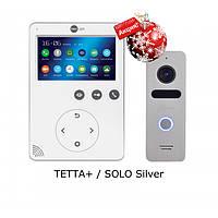 Комплект видеодомофона NeoLight Tetta+ / NeoLight Solo Silver