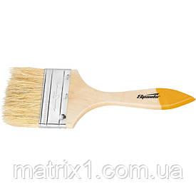 """Кисть плоская Slimline 1,5 """"(38 мм), натуральная щетина, деревянная ручка SPARTA"""