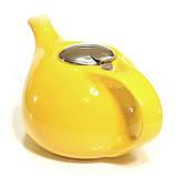 Чайник заварочный с ситечком Fissman 1.3 л (Керамика с металлической крышкой), фото 4