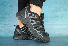 Мужские кроссовки Salomon черные топ реплика