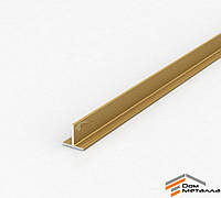 Тавр алюминиевый 20х20х2 мм АД31Т5 с покрытием AG(золото)