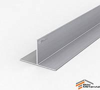Тавр алюминиевый 80х50х2мм АД31Т5 с покрытием AS(серебро)