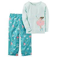 Детская теплая пижама  с балериной Carters для девочки