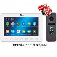 Комплект видеодомофона NeoLight Omega+ / Solo Graphite
