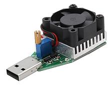 Нагрузочный резистор 0.15A-3.4A с кулером USB 15 Вт