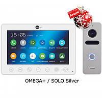 Комплект видеодомофона NeoLight Omega+ / Solo Silver