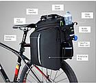 Велосумка на багажник RockBros черная (эксклюзивная серия -карбон), фото 7