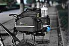 Велосумка на багажник RockBros черная (эксклюзивная серия -карбон), фото 10