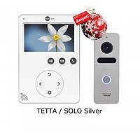 Комплект видеодомофона NeoLight Tetta / NeoLight Solo Silver