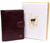 Мужской кошелек Br.Buffel для документов коричневого цвета